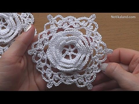 CROCHET Flower Motif Hexagon Pattern Tutorial Part 2 #2