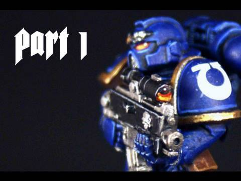 How to paint Ultramarines Space Marine part 1 by Lester Bursley