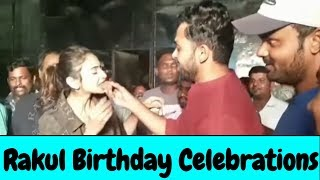 Actress Rakul Preet Birthday Celebrations With Hero KARTHI | Happy Birthday Rakul Preeth - RAJSHRITELUGU