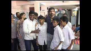 Raja The Great visits Devnar school for the Blind - Ravi Teja,Mehreen,Dil Raju & Anil Ravipudi - DILRAJU