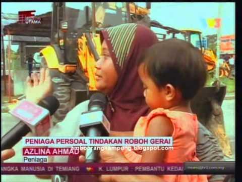 Pakatan Rakyat robohkan gerai makan Melayu Kajang 30?10/2013