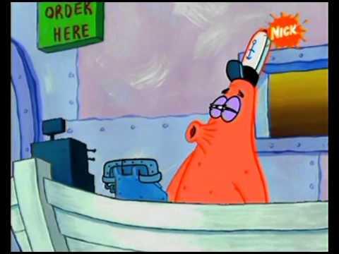 SpongeBob Kanciastoporty Patryk odbiera telefon