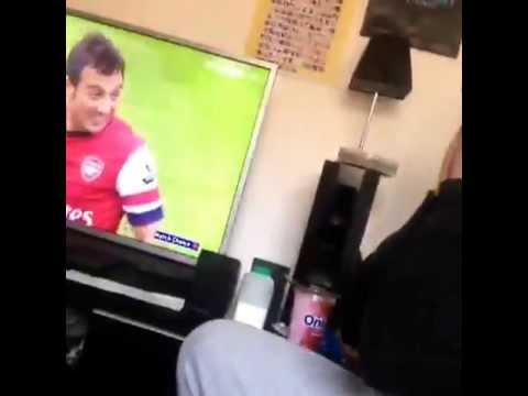Arsenal fan on the final day of the season... Passionate, anger and despair