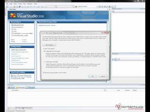 DotNetNuke Module Development Template Installation