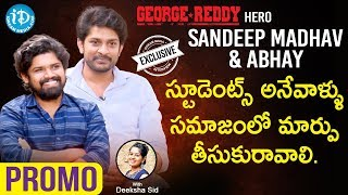 George Reddy Movie Actors Sandeep Madhav & Abhay Interview - Promo | Talking Movies With iDream - IDREAMMOVIES