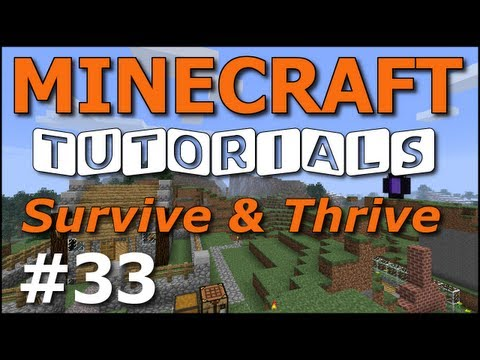 Minecraft Tutorials - E33 Branch Mining Basics (Survive and Thrive II)