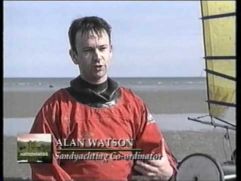 Sand Yachting or Land Sailing on Irish TV