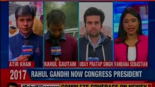 Stage set for Rahul Gandhi coronation, celebrations begin at congress office - NEWSXLIVE
