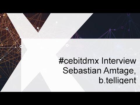#cebitdmx Interview mit Sebastian Amtage, b.telligent