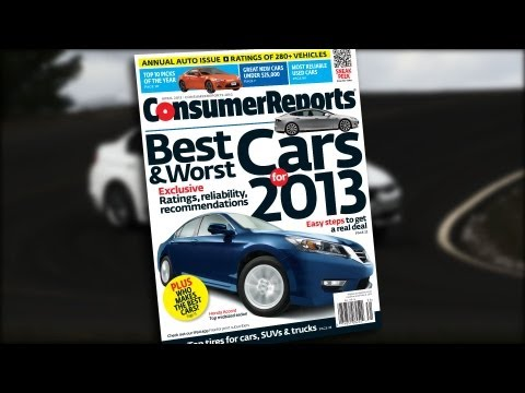 Consumer Reports 2013 Top Picks - Cars