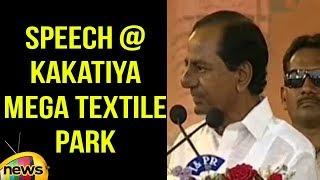 CM KCR Full Speech, Warangal  KAKATIYA Mega Textile Park Stone Laying Ceremony | Mango News - MANGONEWS