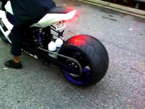 ZX10 with 360 burnout