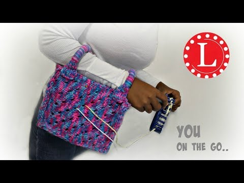 Loom Knitting Yarn Holder Bag