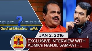 Kelvikku Enna Bathil 02-01-2016 Interview With Nanjil Sampath – Thanthi TV Show Kelvikkenna Bathil