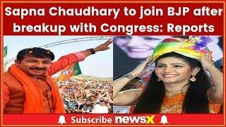 Sapna Chaudhary to Join BJP after Breakup with Congress; Delhi BJP Chief Manoj Tiwari met Sapna - NEWSXLIVE