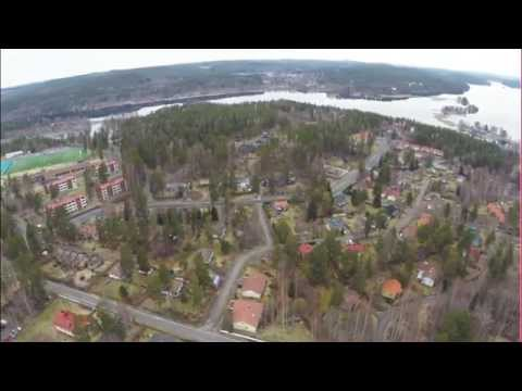 DJI Phantom flying over Säynätsalo in Finland