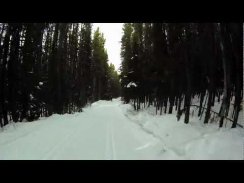 XC Skiing, Descending Pocaterra, Peter Lougheed Provincial Park, Alberta