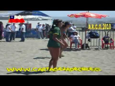 Cartagena de Chile Mujeres Sudamericano Volley Playa 2010.