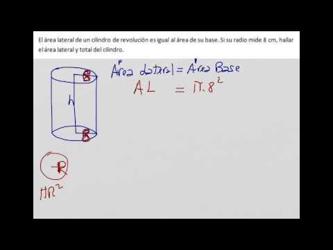 Área total de un cilindro conociendo el radio y relación entre el área lateral y de la base