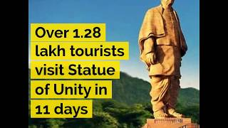 Over 1.28 lakh tourists visit Statue of Unity in 11 days - ABPNEWSTV