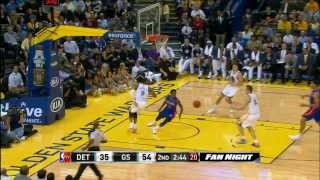 Andre Iguodala's 2 Sick Behind The Back Passes To David Lee