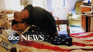 Son of a veteran fulfilled his father's dying wish to be draped in the American flag - ABCNEWS