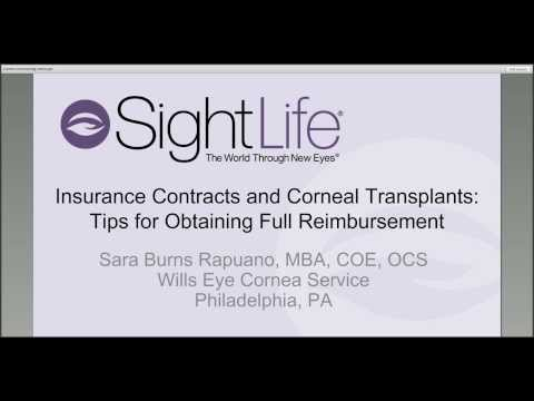 Insurance Contracts and Corneal Transplants
