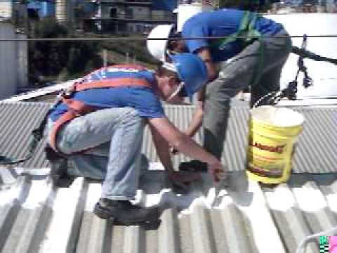 Impermeabilização de telhado com Vedatelha