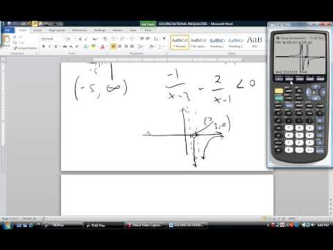 COLLEGE ALGEBRA  - SOLVING RATIONAL INEQUALITIES