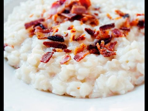 Bacon and White Cheddar Cheese Risotto