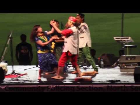 Nepali lok dance performed at alkhor stadium Doha Qatar on the occasion of Eid festival-2013.