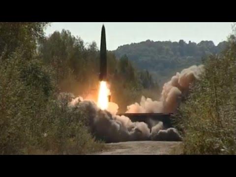 Rusia prueba misiles Iskander-M