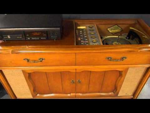 Past meets Present on a 62 Magnavox Console Stereo
