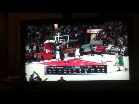 NBA 2K11 Luol Deng Makes 3/4 Court Shot From Own FT Line