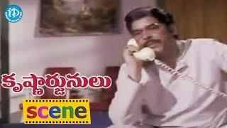 Krishnarjunulu Movie Scenes -Rao Gopal Rao Blackmails Sathyanarayana || Krishna, Sobhan Babu - IDREAMMOVIES