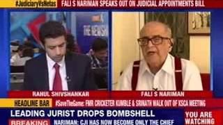 NewsX Exclusive Interview with Fali S Nariman by Rahul Shivshankar - NEWSXLIVE