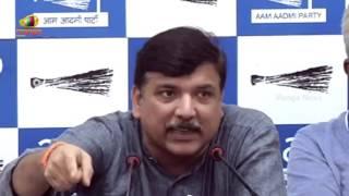AAP Leader Sanjay Singh Press brief Over Funding Allegations | Mango News - MANGONEWS