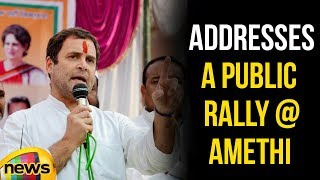 Rahul Gandhi Addresses a Public Rally at Amethi in his  two day tour of UP | Mango News - MANGONEWS