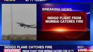 IndiGo flight catches fire on landing at Delhi airport - NEWSXLIVE