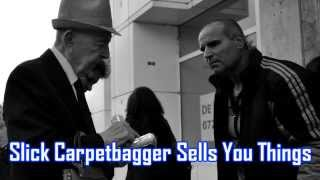Royalty Free :Slick Carpetbagger Sells You Things