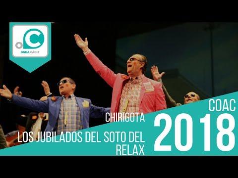 Sesión de Preliminares, la agrupación Los jubilados del Soto del relax actúa hoy en la modalidad de Chirigotas.