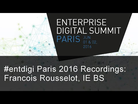 #EntDigi 2016: Francois Xavier Rousselot - At the Dawn of the Machine Age