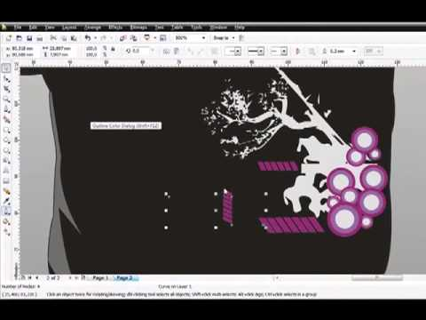 Tutorial Membuat Design Baju Distro   Purple & Gray