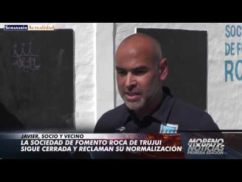 La sociedad de fomento Roca de Trujui sigue cerrada y reclaman su normalización