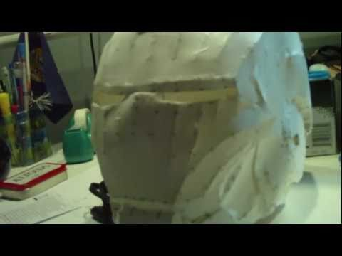 My First Attempt The Iron Man Pepakura Helmet
