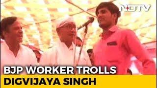 A Man Took Digvijaya Singh's '15 lakh Challenge' At Bhopal Rally. Watch - NDTV