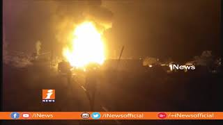 Oil Tanker Catches blaze After Hits Transformer In Vizianagaram | iNews - INEWS