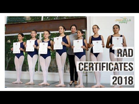 RAD Certificates 2018