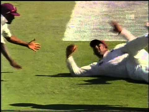 Awesome cricket commentary, Bill Lawry & Tony Greig, SUPER CATCH TOO!