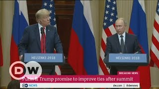 Putin & Trump promise to improve ties after summit | DW English - DEUTSCHEWELLEENGLISH